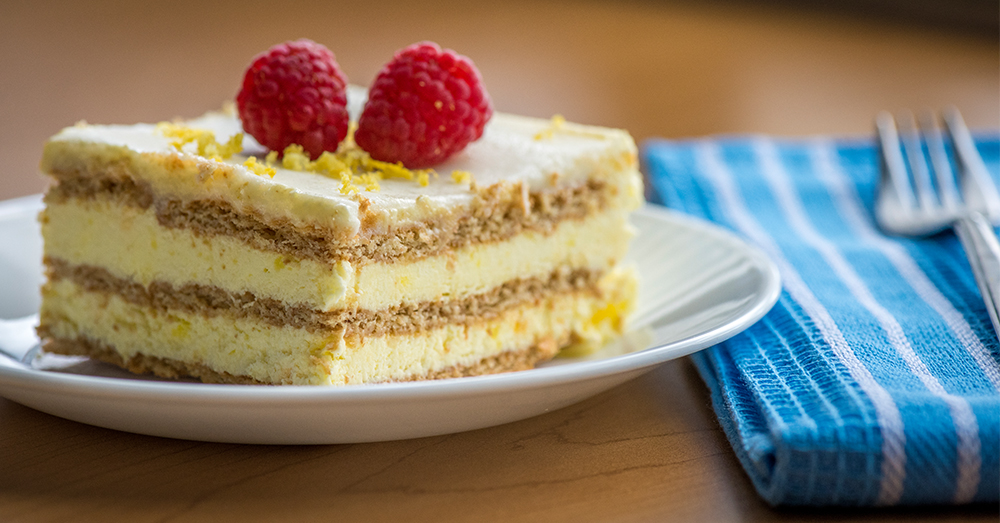 Lemon Icebox Cake With Graham Crackers And Pudding