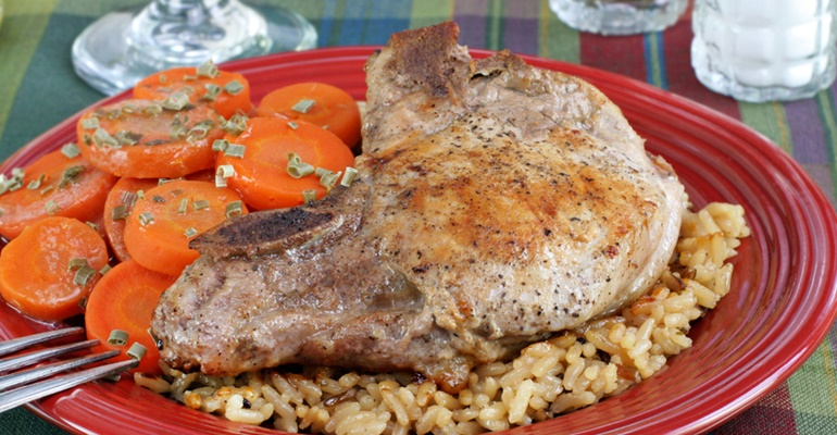 6 hearty dinner recipes pork chops and rice casserole