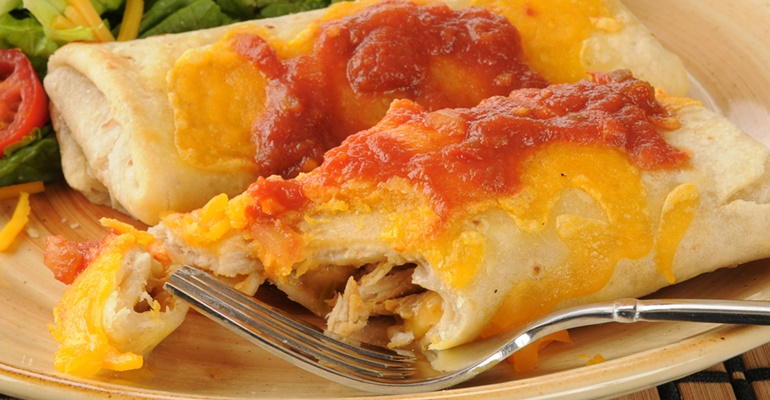 30-minute recipes chicken chimichangas