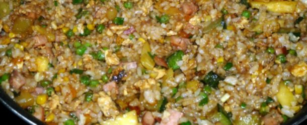 vegetable ham fried rice
